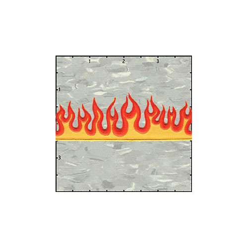 Flame Strip 5 Inches Orange Patch