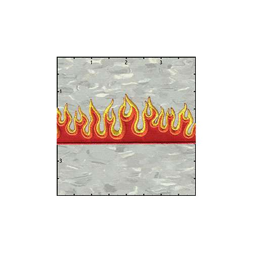 Flame Strip 5 Inches Red Patch