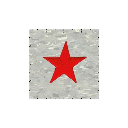 Star Solid 2.5 Inches Red Patch