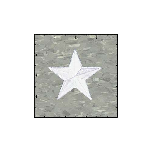 Star Solid 2.5 Inches White Patch