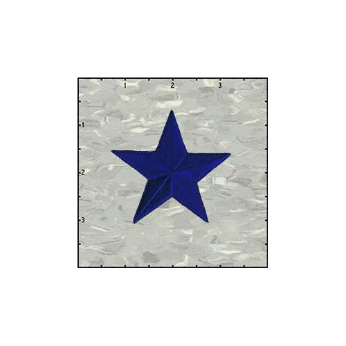 Star Solid 2.5 Inches Blue Patch