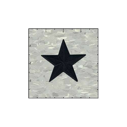 Star Solid 2.5 Inches Black Patch