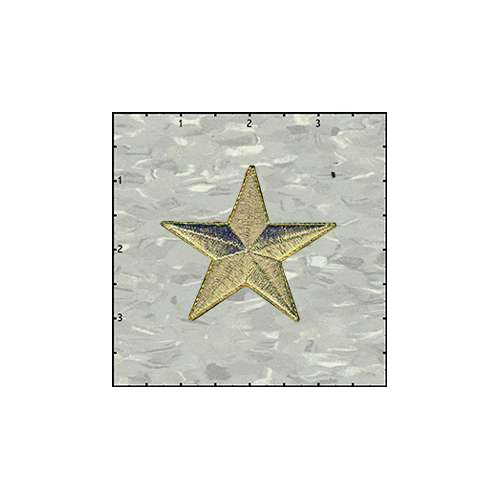 Star Solid 2.5 Inches Gold Patch