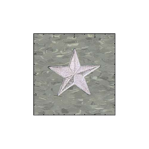 Star Solid 2.5 Inches Silver Patch