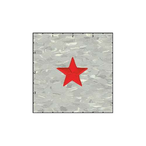 Star Solid 1.5 Inches Red Patch