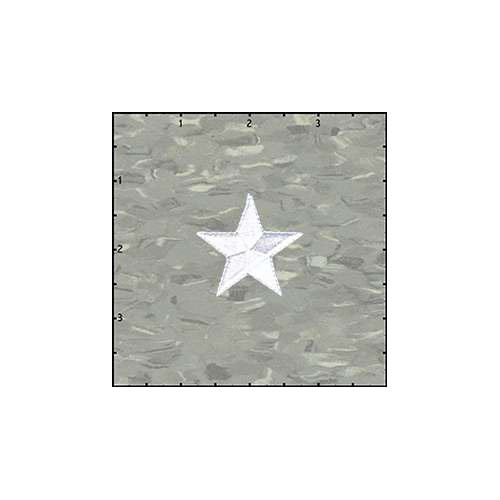 Star Solid 1.5 Inches White Patch