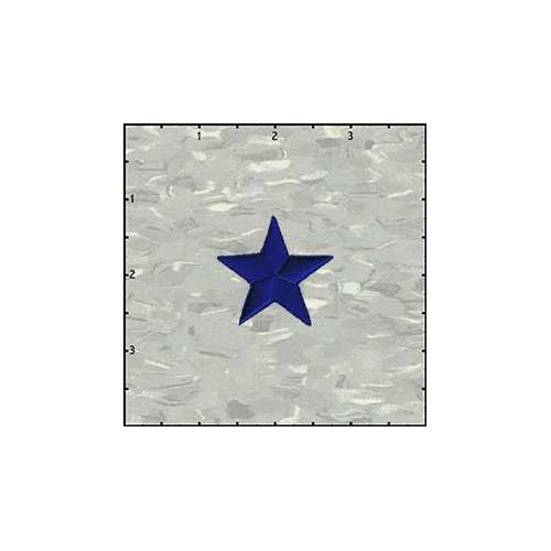 Star Solid 1.5 Inches Blue Patch