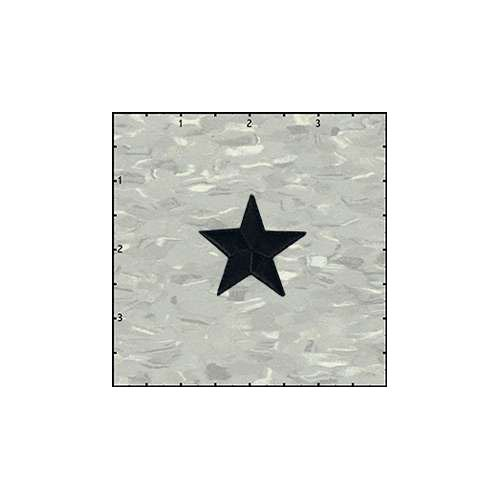 Star Solid 1.5 Inches Black Patch