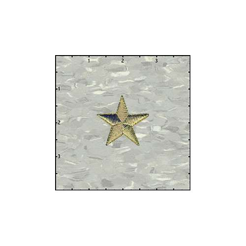 Star Solid 1.5 Inches Gold Patch