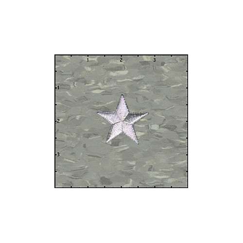 Star Solid 1.5 Inches Silver Patch