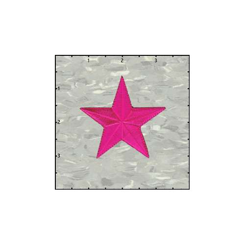 Star Solid 2.5 Inches Pink Patch