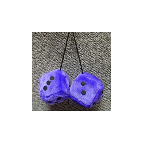 Fuzzy Dice 3 Inches Purple Royal Patch