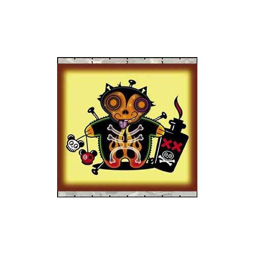 Chicovonspoons Voodoo Cat with Poison Bottle Patch