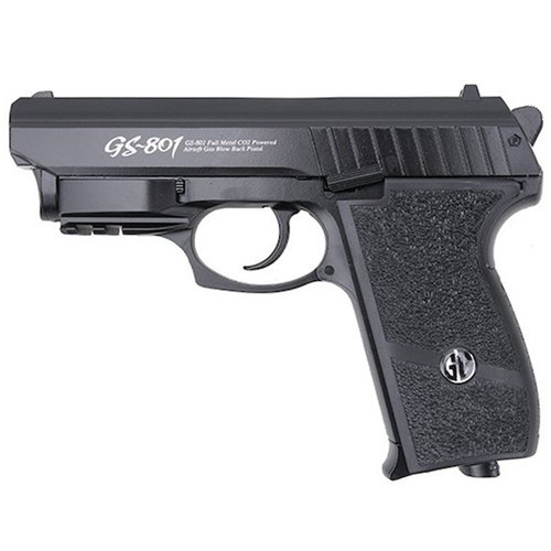 G&G GS-801 Black Airsoft Pistol with Laser