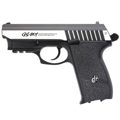 G&G GS-801 Silver Airsoft Pistol with Laser