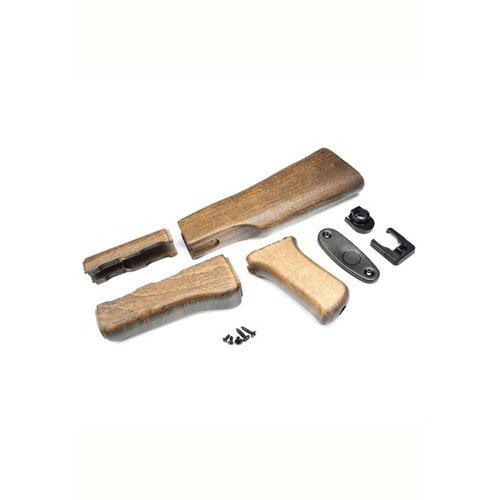 G&G AK47 Wood Stock Set For AK Series (Marui Only)