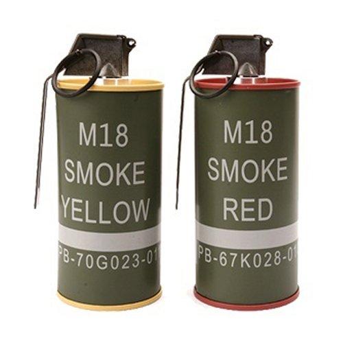 G&G M18 Smoke Grenade Shape BB Loader Set - Red-Yellow