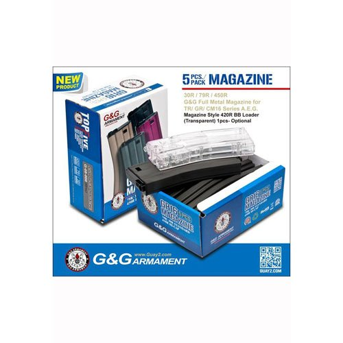 G&G 30R Standard Magazine For GR16 (Gray) 5Pcspack