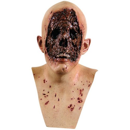 Gruesome No Face Zombie Halloween Mask