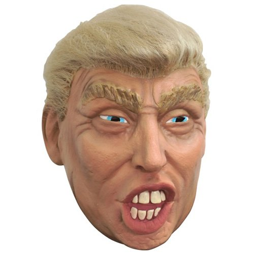 Donald Trump with Hair Halloween Mask