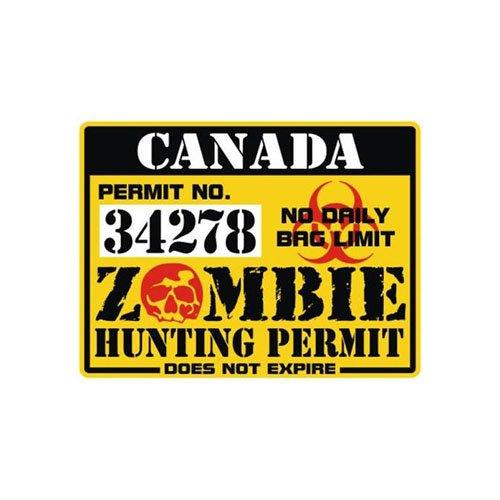 Canada Zombie Hunting Permit Sticker