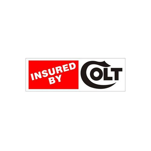 Insured By Colt Bumper Sticker