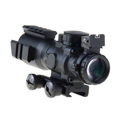 4x32 Prismatic Rifle Scope w/ Fiber Optic Sight