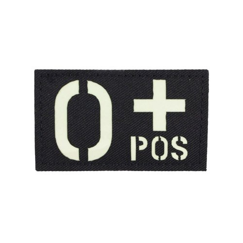 Glow in the Dark O+ Positive Patch