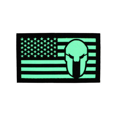 Glow in the Dark USA Skull Patch