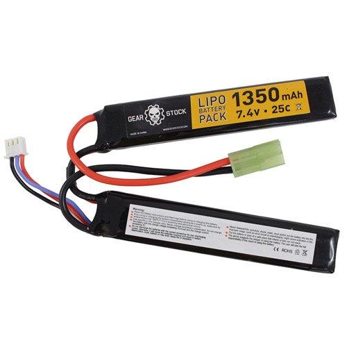Nunchuck Style 7.4V 1350mAh 25C LiPo AEG Battery