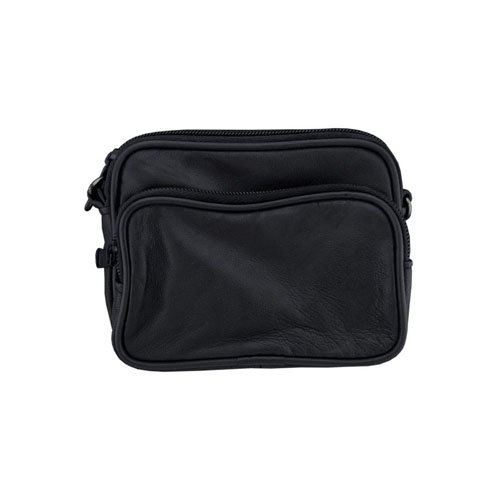 2 Zipper Pocket Small Leather Belt Pack
