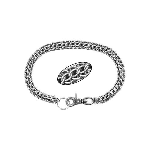 Large Weave Chrome Wallet Chain