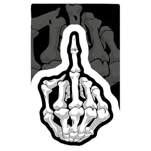 4 Inch X 6 Inch Skeleton Finger Decal Multi Sticker