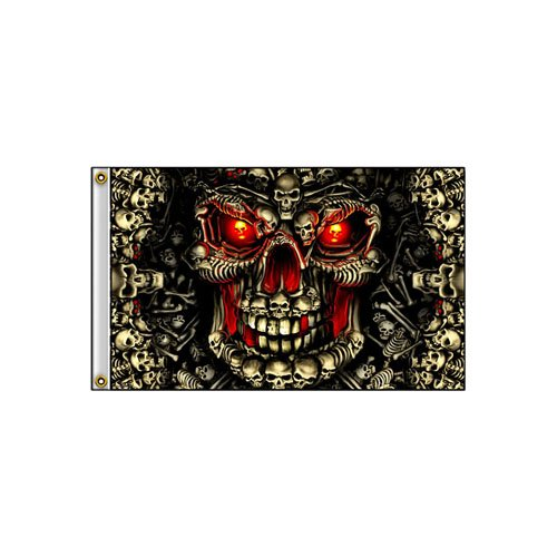 Skull Made Of Skulls 3 Inch x 5 Inch Flag