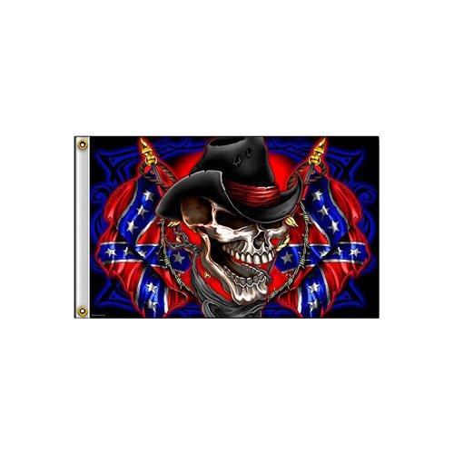Rebel 3 Inch X 5 Inch Cowboy Flag