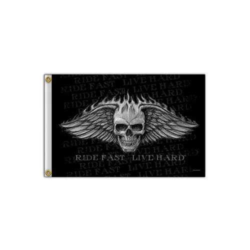 Winged Skull Bad Scratch Flag