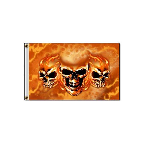 Burn It Up Skulls 3' X 5' Flag