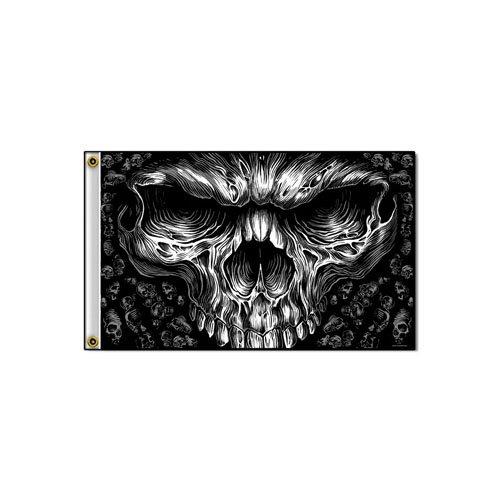 Shredder Skull 3' X 5' Flag