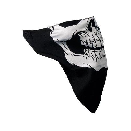 Black-White Skull Facemask Neck Warmer