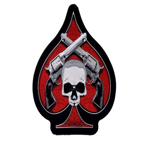 Skull And Revolvers On A Spade Patch