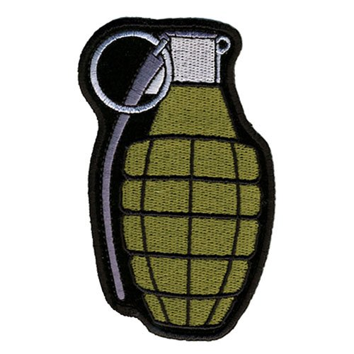 Hand Grenade Embroidered Patch