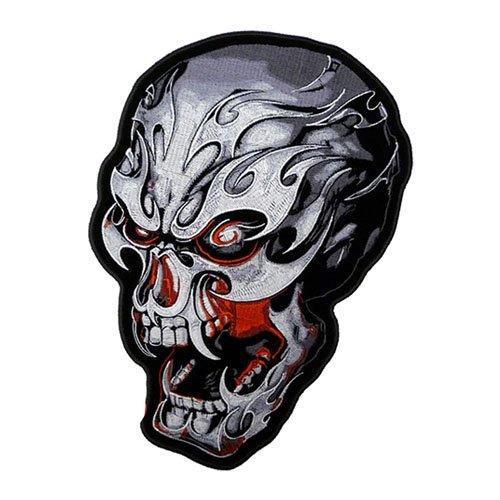 Electric Skull Biker Patch