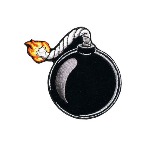 Ball Bomb Embroidered Patch