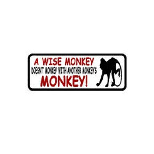 4 Inch X 1 Inch A Wise Monkey Doesnt Sticker