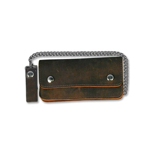 Distressed Brown 8 Inch Bifold Leather Wallet