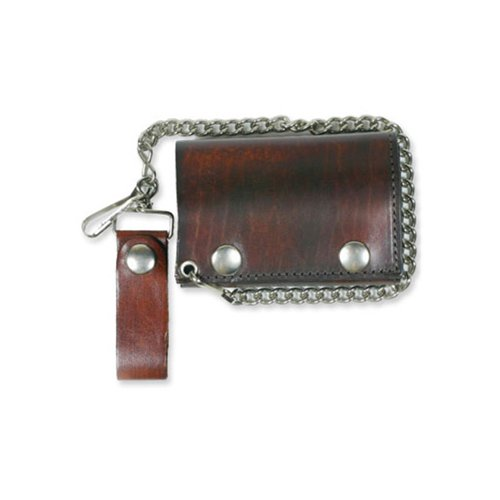 Antique Brown 4 Inch Trifold Wallet