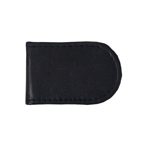 Black Magnetic Leather Money Clip