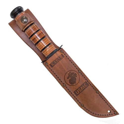 Ka-Bar Leather 5.25 Inch Fixed Blade Knife