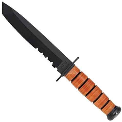 Ka-Bar Tanto Knife - Half Serrated Edge