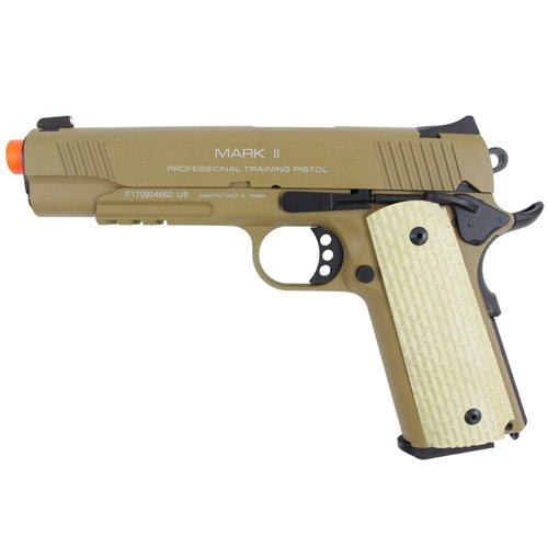 KWA 1911 MK II PTP 6mm Airsoft BB Pistol - Dark Earth